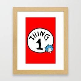 Thing 1 Framed Art Print