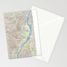 Richmond Virginia City Map Stationery Cards