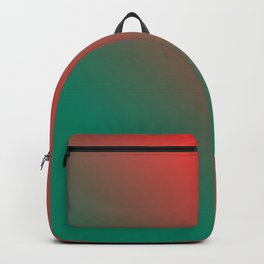 Red and Green Gradient / GFTgradient008 Backpack