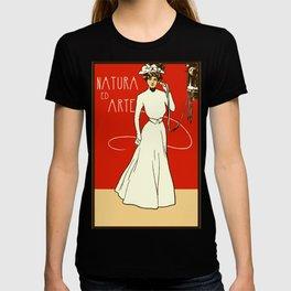 Nature ed Arte, Italian Lady on an antique telephone T-shirt