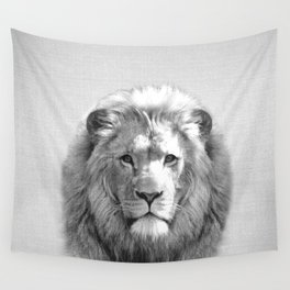 Lion - Black & White Wall Tapestry