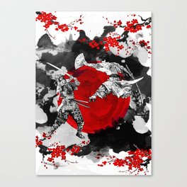 Samurai Fighting Canvas Print