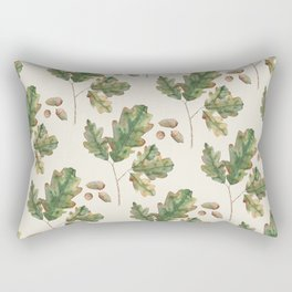 Oak tree  green leaves  Rectangular Pillow