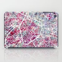 brussels iPad Cases featuring Brussels Map by MapMapMaps.Watercolors
