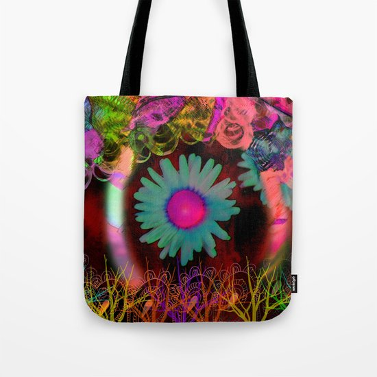 Tripping Daisies Tote Bag