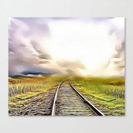 Destination Unknown Airbrush Artwork Canvas Print