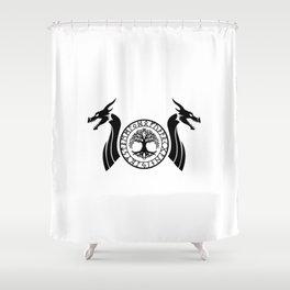 Norse Dragon - Yggdrasil Shower Curtain