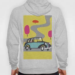 vintage car cartoon Hoody