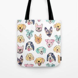 Colorful Dogs! Tote Bag