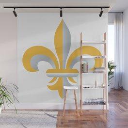Fleur de Lis symbol Wall Mural