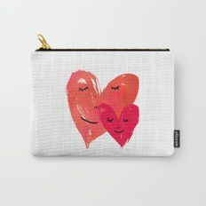 Watercolor couple of hearts Carry-All Pouch