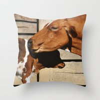 cows Throw Pillows featuring Cows by Ana Francisconi