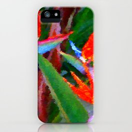 Bird of Paradise Family Abstract iPhone Case