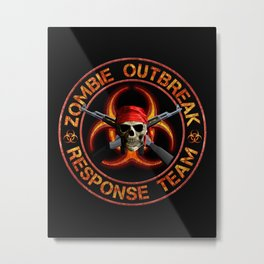 Zombie Response Team Metal Print