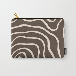 Topographic Map / Brown & Nude Carry-All Pouch