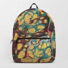 Watercolor gold cloud Backpack