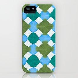 Shibori (green and blue) iPhone Case