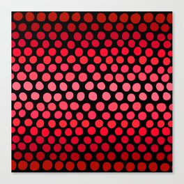 Juicy Red Apple Ombre Dots Canvas Print