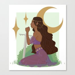Artemis, Lady of the Moon Canvas Print