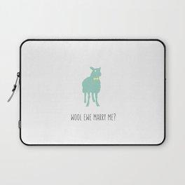 Wool Ewe Marry Me? Laptop Sleeve