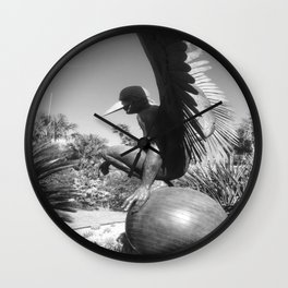 "The ""Wings of the City"" sculpture exhibit by Mexican Artist Jorge Marín 3 Wall Clock"