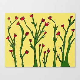 Long flowers Canvas Print