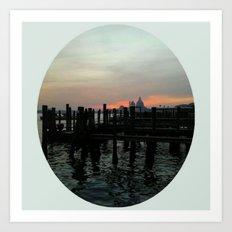Winter Sunrise In Venice Art Print