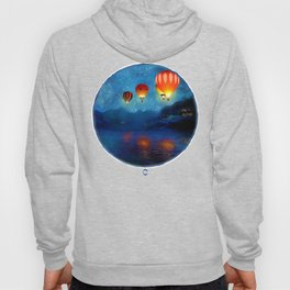 Hot Air Ballooning on a Starry Night Hoody