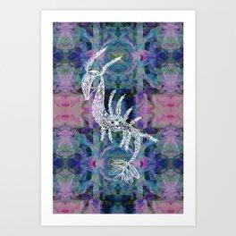 Frankie Floral Leafy Sea Dragon Art Print