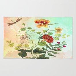 Simply Divine, Vintage Botanical Illustration Rug
