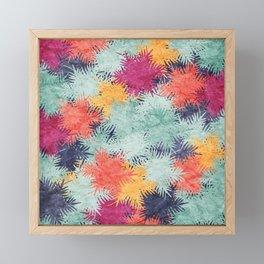 Tropical Fan Palm Paradise – Colorful #03 Framed Mini Art Print