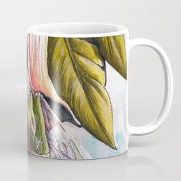 Fairy hiding under angel trumpet Coffee Mug