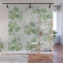 Floating Peas Wall Mural