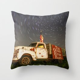 Ocoee River Barn truck Throw Pillow