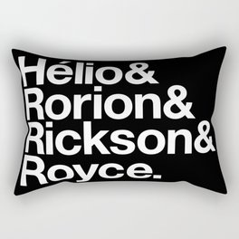 Jiu-Jitsu Gracie Family Names Rectangular Pillow