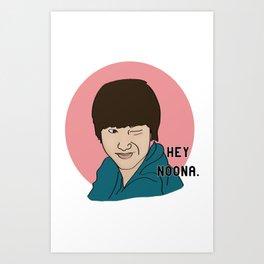 Hey Noona Art Print