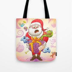 A Christmas Gift from Halloween Creepies to Santa Tote Bag