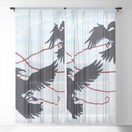 Fated Flight Sheer Curtain