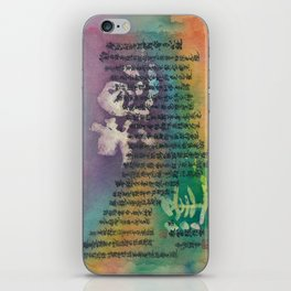 The deceased sister-in-law (Heart Sutra/般若心経)  iPhone Skin