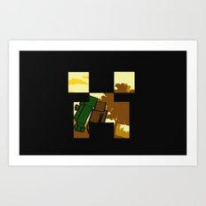 Friends forever (minecraft edition)  Art Print