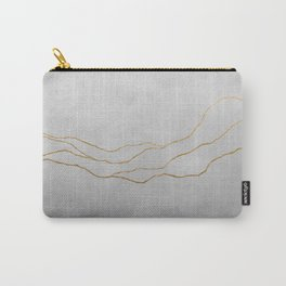 Ombre Grey & Gold Carry-All Pouch