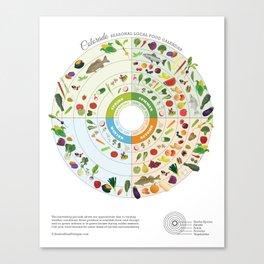 Colorado Seasonal Local Food Calendar Canvas Print