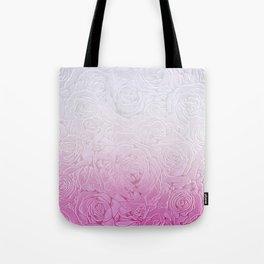 roses and pink gradient Tote Bag