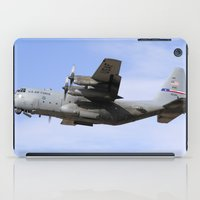 aviation iPad Cases featuring USAF C-130 Aviation take off by Aviator