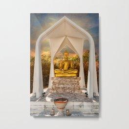 Sitting Buddha Metal Print