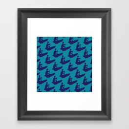 GuideBoat Blues Framed Art Print