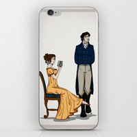 pride and prejudice iPhone & iPod Skins featuring Pride and Prejudice by wolfanita