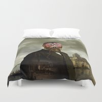 cthulhu Duvet Covers featuring Cthulhu by DIVIDUS
