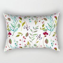 autumn winter berries watercolor pattern Rectangular Pillow