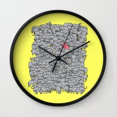 Stand Out & Be Herd Wall Clock